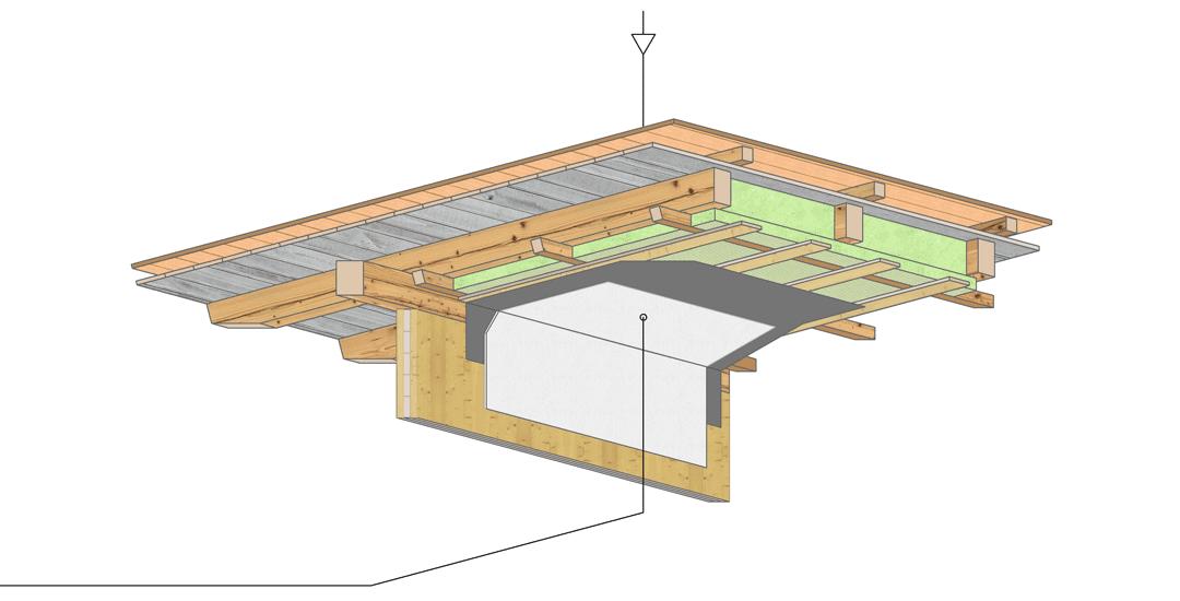Aufbau Mansarde-Pultdach
