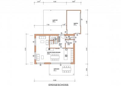 Plan Grundriss Erdgeschoss