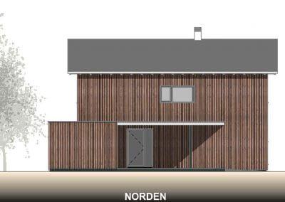 Nordansicht vom Holzmassivhaus