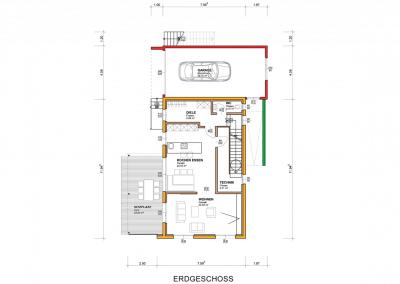 Plan-Grundriss-Erdgeschoss